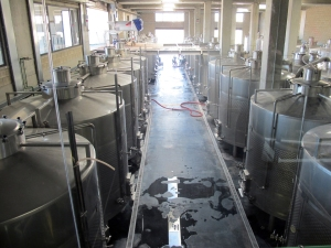 Steel fermentation tanks